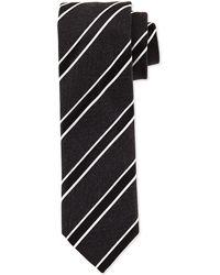 Hugo Boss Diagonally Striped Slim Tie - Lyst