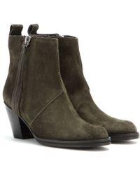 Acne Studios Pistol Short Suede Ankle Boots - Lyst