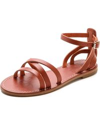 Madewell The Rowell Sandals Rusted Clay - Lyst