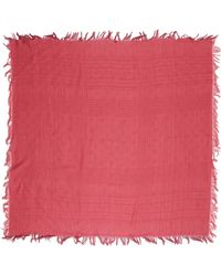 Etro Red Square Scarf - Lyst