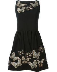 Alice + Olivia 'Lillyanne' Embroidered Dress - Lyst
