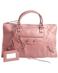 Balenciaga Rose Lambskin Large Work Bag - Lyst