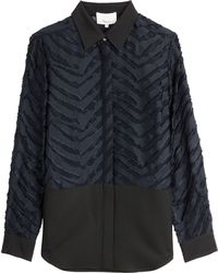 3.1 Phillip Lim Shirt With Sheer Inserts - Lyst