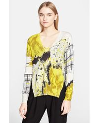 Prabal Gurung Floral Patchwork Print Sweater yellow - Lyst