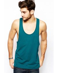 Asos Tank with Extreme Racer Back - Lyst