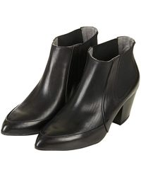 Topshop Womens Access Chelsea Boots Black - Lyst