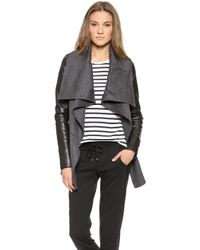 Mackage Vane Wool Jacket Grey - Lyst