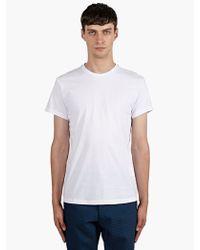 Jil Sander Mens White Classic Cotton Tshirt - Lyst
