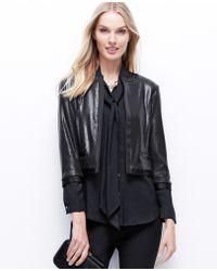 Ann Taylor Black Sequin Jacket - Lyst