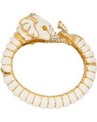 Kenneth Jay Lane Enameled Gold-Plated, Crystal And Resin Elephant Bracelet - Lyst