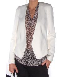 Rebecca Taylor Chalk Refined Suiting Blazer white - Lyst