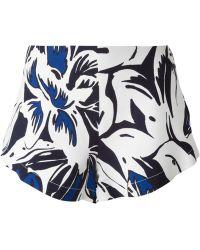 Vanessa Bruno Flower Print Shorts - Lyst