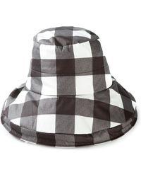Dolce & Gabbana Check Cloche Hat - Lyst