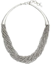 Lucky Brand Beaded Collar Necklace - Lyst