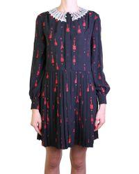 Saint Laurent | Black And Red Rock Dress | Lyst