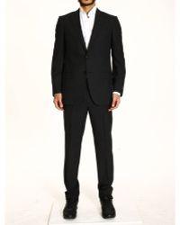 Ermenegildo Zegna Suit 2 Buttons Milano Micro Pied De Poulle Gr220 - Lyst
