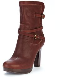 Ugg Olivia Leather Heeled Calf Boots - Lyst