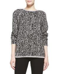 Halston Heritage Long-Sleeve Jacquard Sweater - Lyst