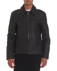 T By Alexander Wang - Leather Zip Front Moto Jacket - Lyst