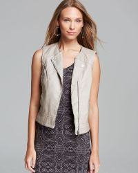 Sanctuary Mel Faux Leather Vest - Lyst