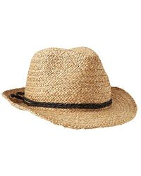 Gap Metallic Straw Fedora - Lyst