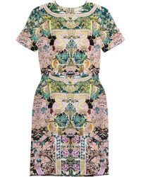 Mary Katrantzou Printed Silk Jersey Dress - Lyst