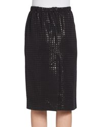 Marni Lacquered Windowpane Pencil Skirt - Lyst