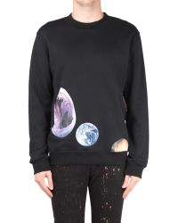 Raf Simons Regular Fit Cotton Sweatshirt with Shark Earth Print - Lyst