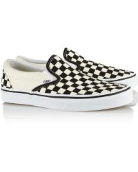 Vans Checked Canvas Slipon Sneakers - Lyst