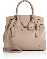 Ralph Lauren Collection Leather Tote - Lyst