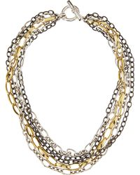 Slane - Trilogy Mixed Chain Necklace - Lyst