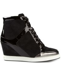 Jimmy Choo Preston Wedge Hitop Sneakers - Lyst