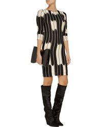 Alice + Olivia Tabitha Patterned Wool Mini Dress - Lyst