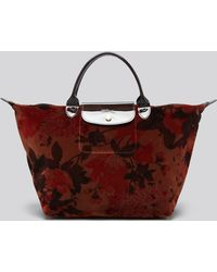 Longchamp Tote Fleurs De Palace Medium - Lyst