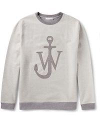 J.W. Anderson Loopback Cotton-blend Sweatshirt - Lyst