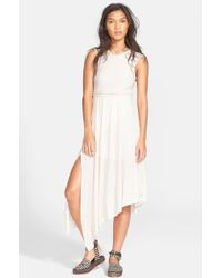 Free People 'Afternoon Delight' Lace Strap Asymmetrical Midi Dress white - Lyst
