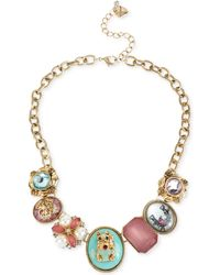 Betsey Johnson Gold-Tone Lucky Charm Necklace - Lyst