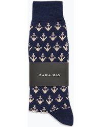 Zara Anchors Novelty Socks - Lyst