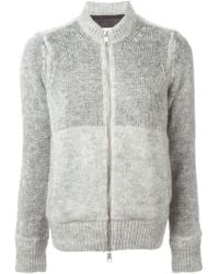 MM6 by Maison Martin Margiela Open Knit Zipped Cardigan - Lyst