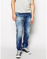 Diesel Jeans Buster 831D Regular Tapered Fit Mid Wash - Lyst