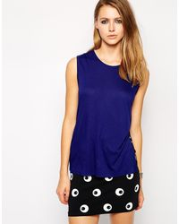 Cheap Monday Split Sleeveless Top - Lyst