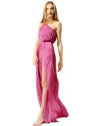 Maria Lucia Hohan Pleated Silk Tulle One Shoulder Dress - Lyst