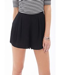Forever 21 Pleated Crepe Shorts - Lyst
