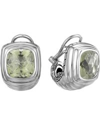 John Hardy Bedeg Silver Batu Large Shrimp Earrings with Green Amethyst - Lyst