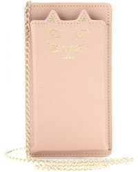 Charlotte Olympia Feline Leather Iphone 5 Case - Lyst
