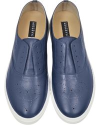 Fratelli Rossetti - Blue Leather Sneakers - Lyst