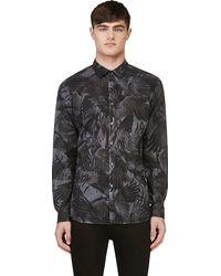 Diesel Grey Raven Print S_vilas Shirt - Lyst