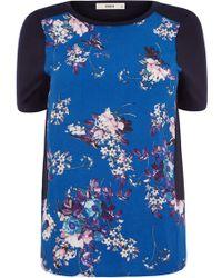 Oasis Jasmin Bird Woven Front T-Shirt - Lyst