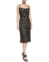Michael Kors Sleeveless Floral Lace Dress - Lyst