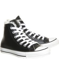 Converse All Star High Leather - Lyst
